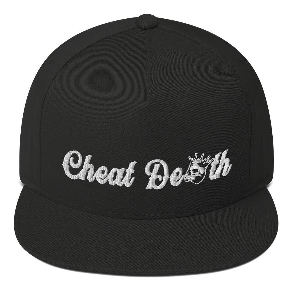 Cheat Death Flat Bill Snapback Hat