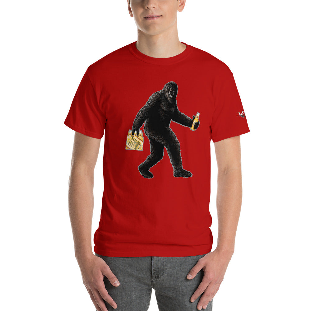 """Partying with Sasquatch"" Mens Short Sleeve T-Shirt"