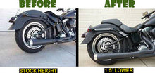 "Load image into Gallery viewer, No Shock Removal - Ultimate Easy Softail Lowering Kit, Includes 1.5"" and 2"" Complete Kit (For All 2000-2017 Softail Models)"