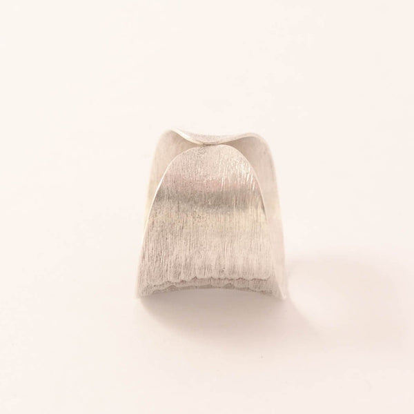 Crashing Waves - Hammered Finish Sterling Silver Ring