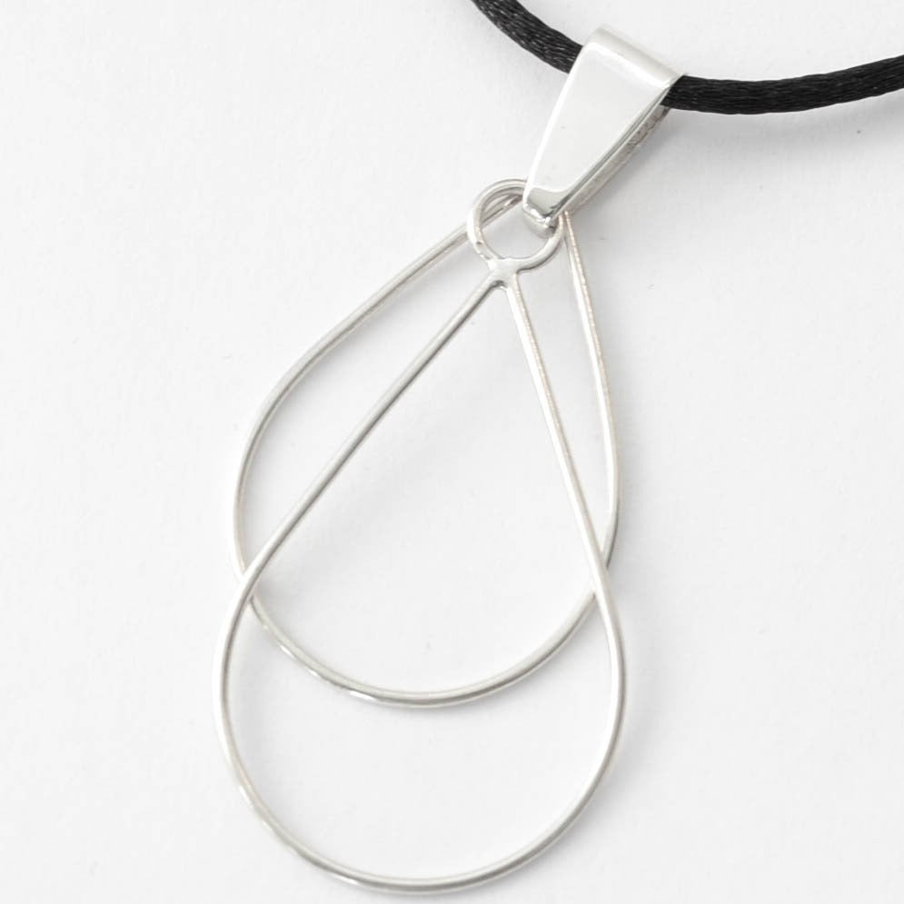 Double Teardrop - Sterling Silver