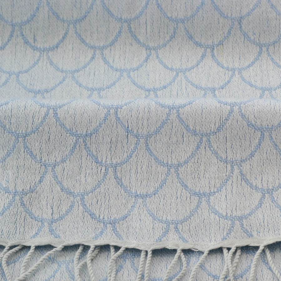 Soft Elegance - Light Blue Pashmina Scarf