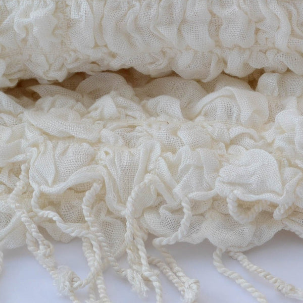 Antique White Scarf