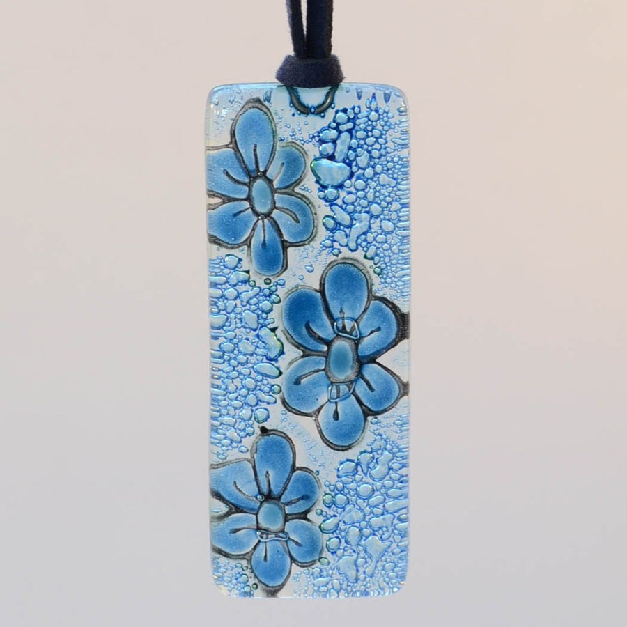 Denim Floral Necklace