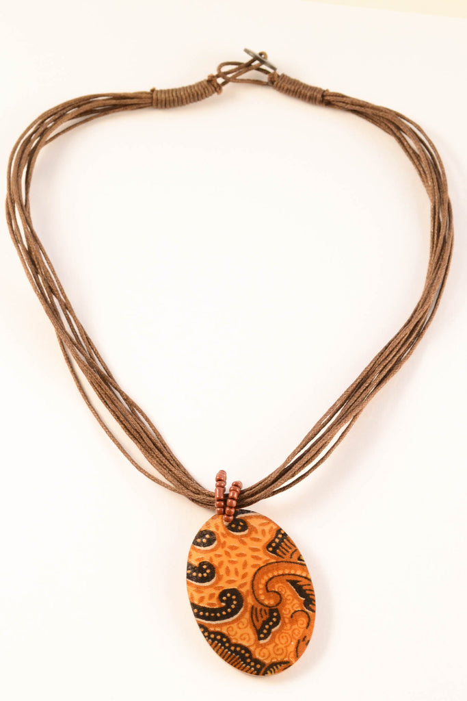 Large Oval Batik Necklace