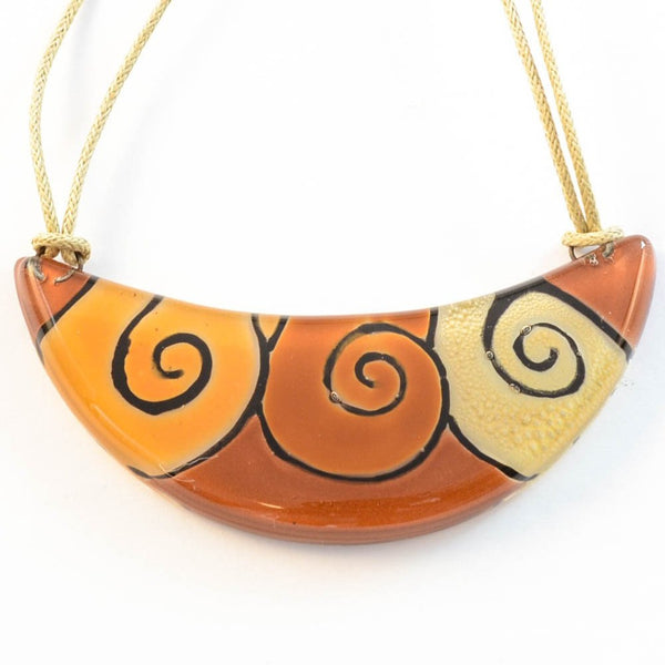 Crescent Swirl - Necklace