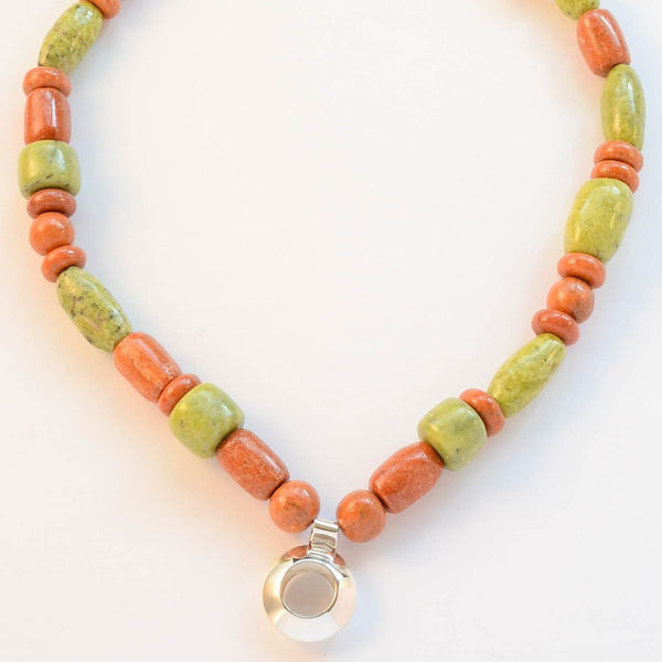 Modern - Orange Jasper & Green Serpentine