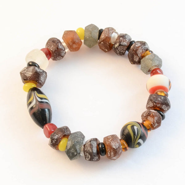 Beach Glass Bracelet - Brown