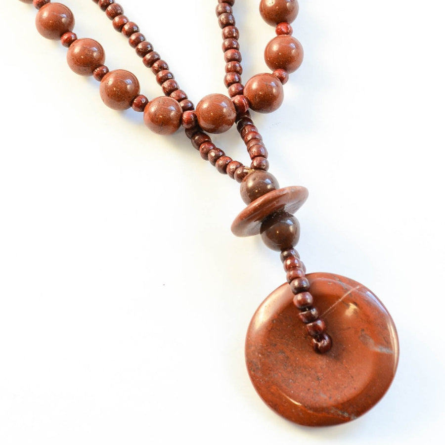 Duo - Red Jasper Necklace