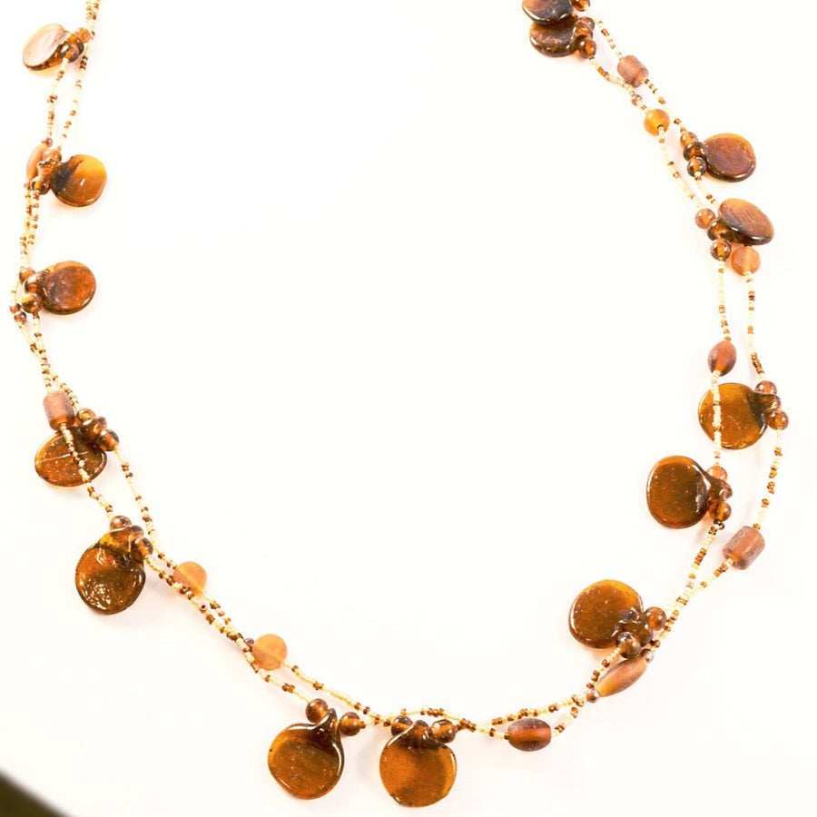 Maple Drop - Beaded Necklace