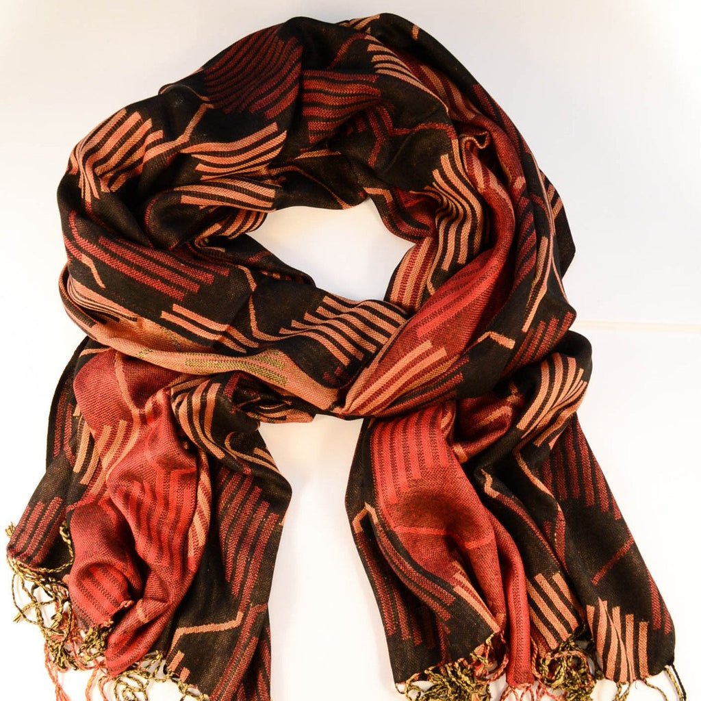 Geometric Fall Scarf