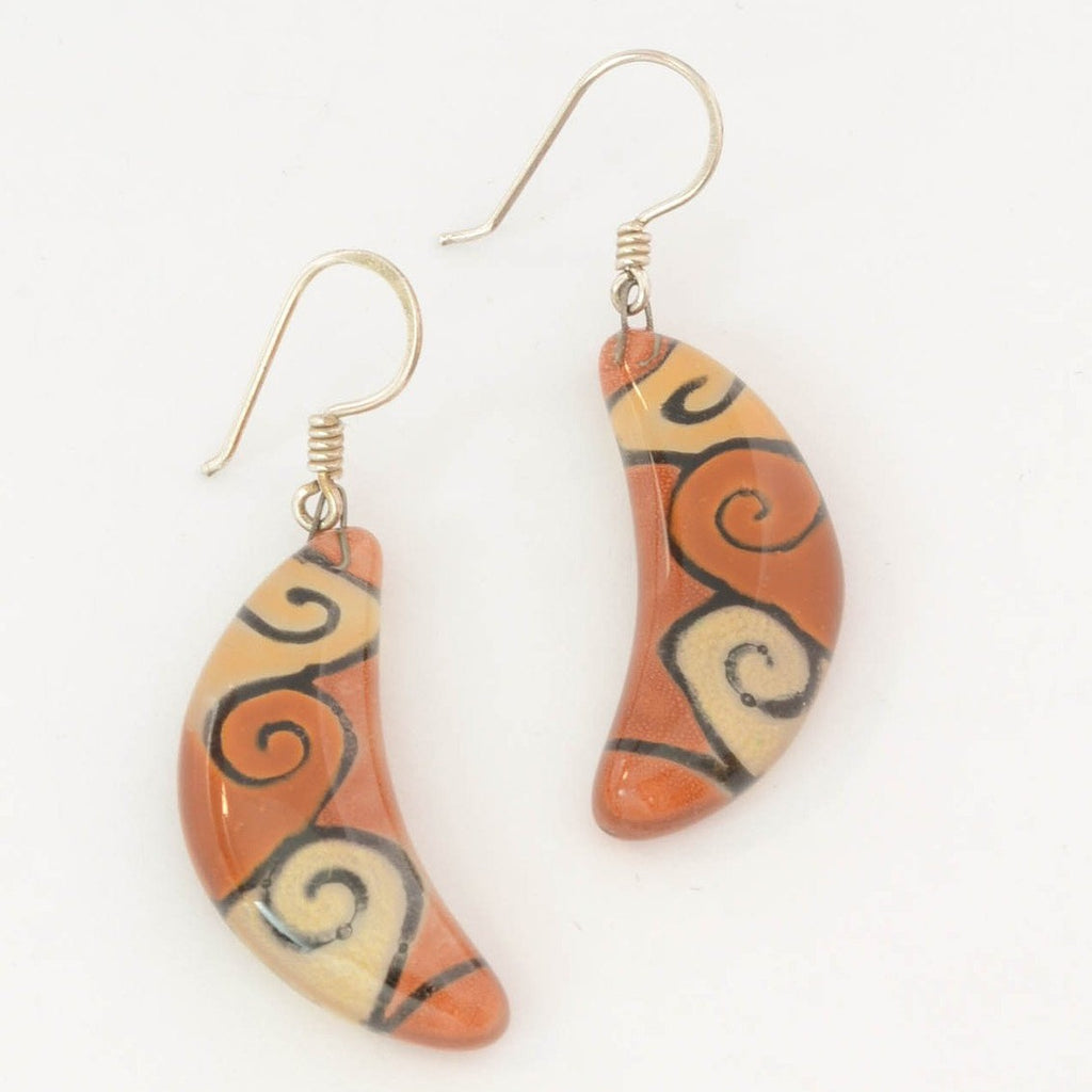 Crescent Swirl - Earrings