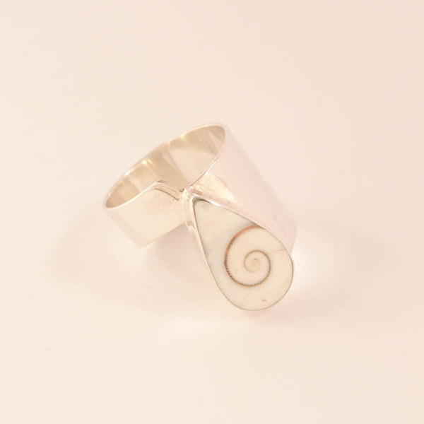 Swirling Tear - Shell Ring