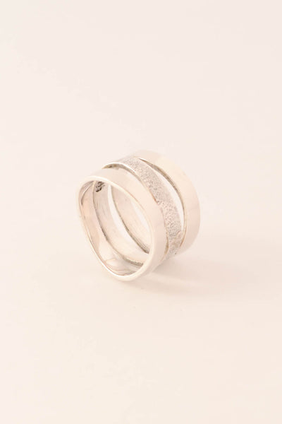 Triple Wave - Wide Sterling Silver Ring