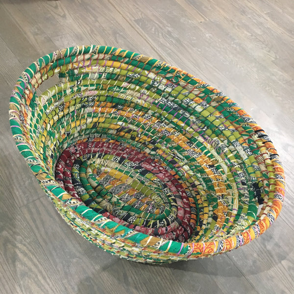 Handle Basket Reclaimed Sari