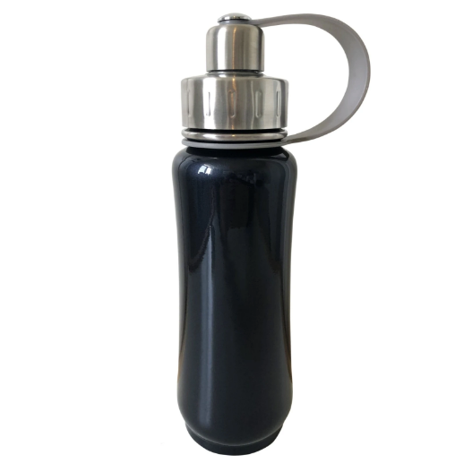 Stainless steel water bottle black irridescent