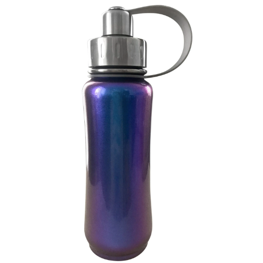 purple irridescent stainless steel water bottle
