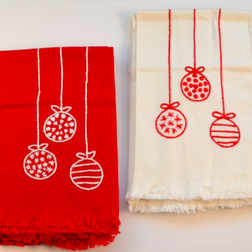 Hand Embroidered Ornaments Towel