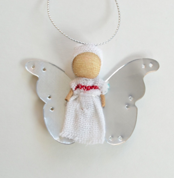 Tin Angel - Upcycled Ornament