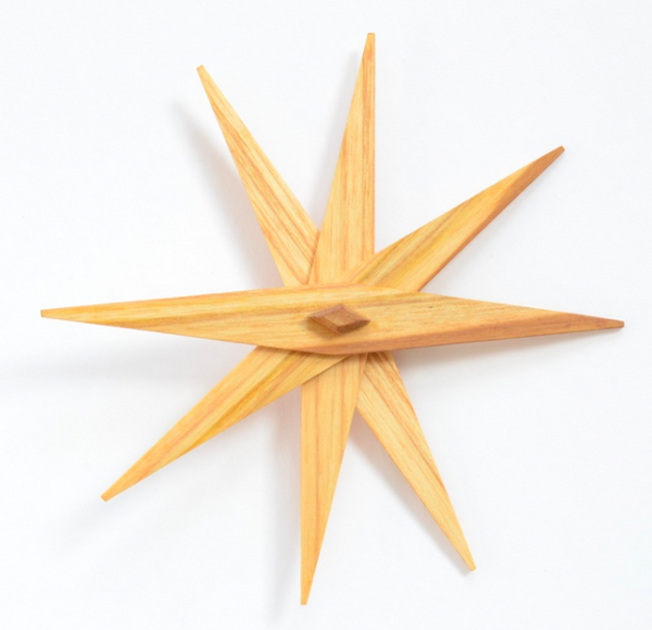 Folding Wooden Star - set of 4