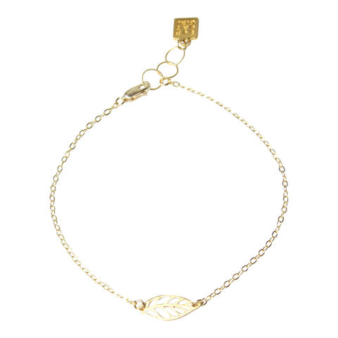 Mini Leaf Gold Anklet