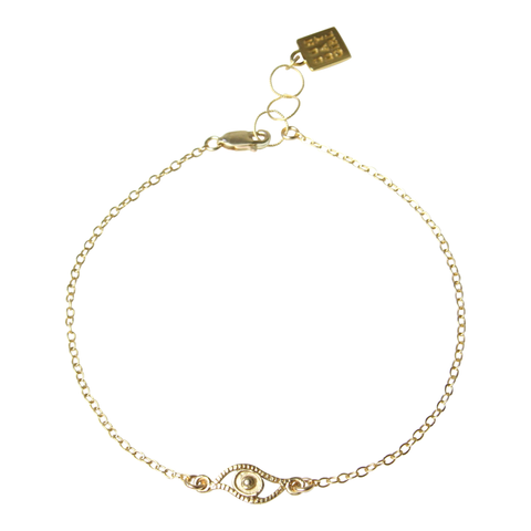 Mini Eye Candy Gold Anklet