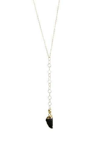 Protection Y Necklace in Black Tourmaline