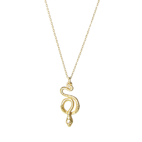 Awakening Gold Serpent Necklace
