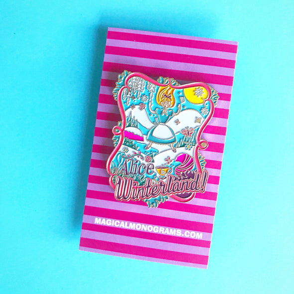 Alice in Winterland Enamel Pin