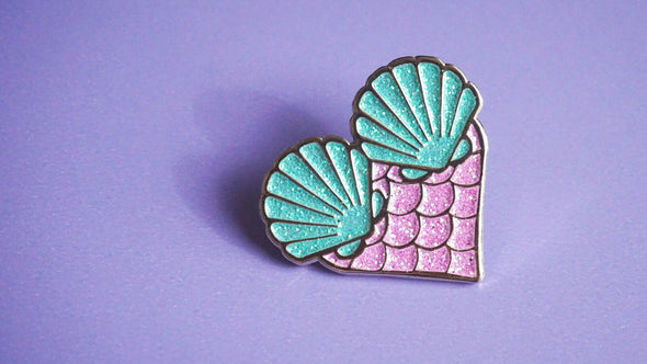 Mermaid At Heart Enamel Pin