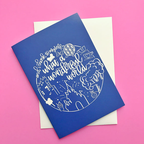 Wonderful World Greeting Card