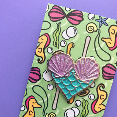 Mermaid Heart Enamel Pin