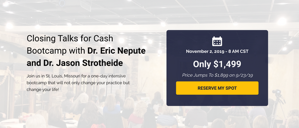Closing Talks For Cash Bootcamp With Dr. Eric Nepute & Dr. Jason Strotheide