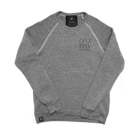 One Day at a Time Crewneck | Grey