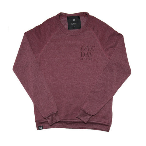 One Day at a Time Crewneck | Merlot