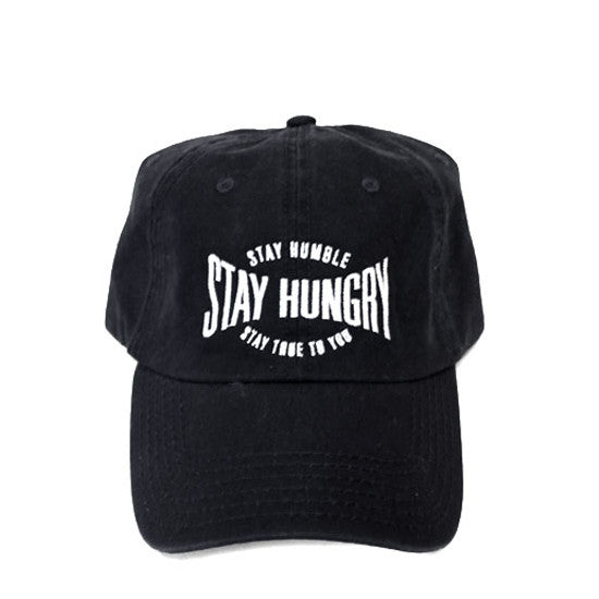Black 6-Panel Dad Hat: Stay Humble, Stay Hungry, Stay True to You