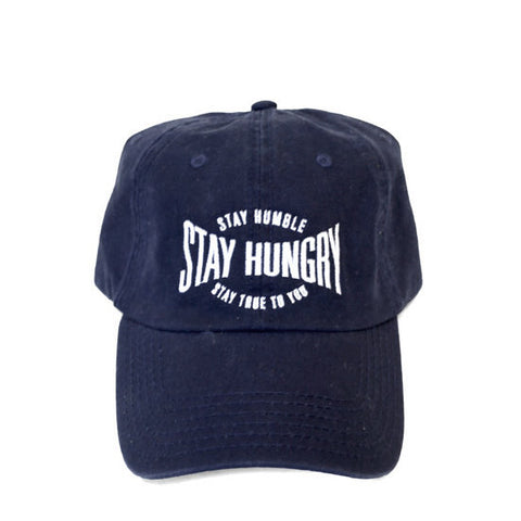 Navy Blue 6-Panel Dad Hat: Stay Humble, Stay Hungry, Stay True to You