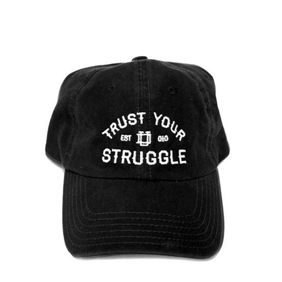 Black 6-Panel Dad Hat: Trust Your Struggle