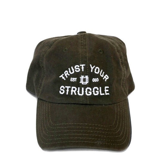 Olive Green 6-Panel Dad Hat: Trust Your Struggle