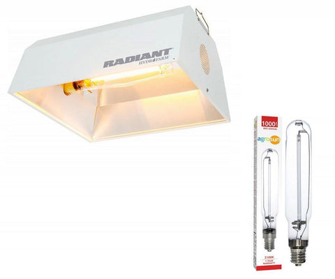 Radiant Reflector - Air Coolable & Agrosun HPS 1000W Lamp Kit