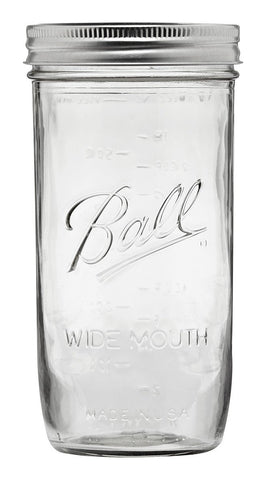 Ball Jar, 24 oz Wide Mouth, case of 9