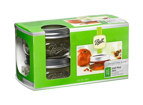 Ball Jar, Collection Elite Series, 8 oz Wide Mouth, Case of 16 (4 x 4 packs)