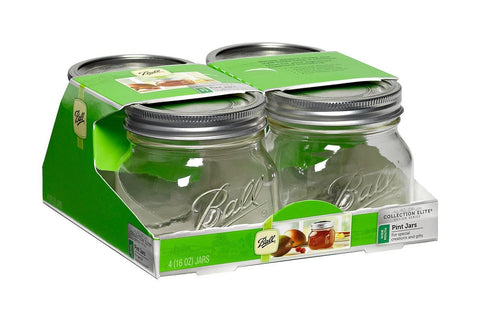 Ball Jar, Collection Elite Series, 16 oz Wide Mouth, Case of 16 (4 x 4 packs)