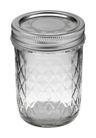 Ball Jar, 8 oz, Quilted Crystal, Case of 12