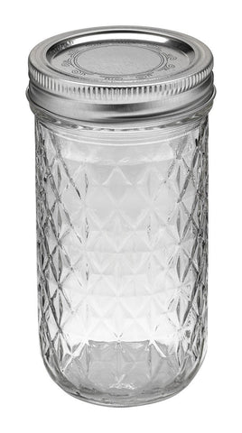 Ball Jar, 12 oz, Quilted Crystal, case of 12
