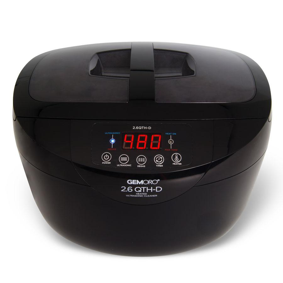 GemOro - 2.6 Quart Heated Ultrasonic Cleaner With Digital Degassing - Sparkle Bright Products