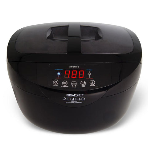 GemOro - 2.6 Quart Heated Ultrasonic Cleaner With Digital Degassing