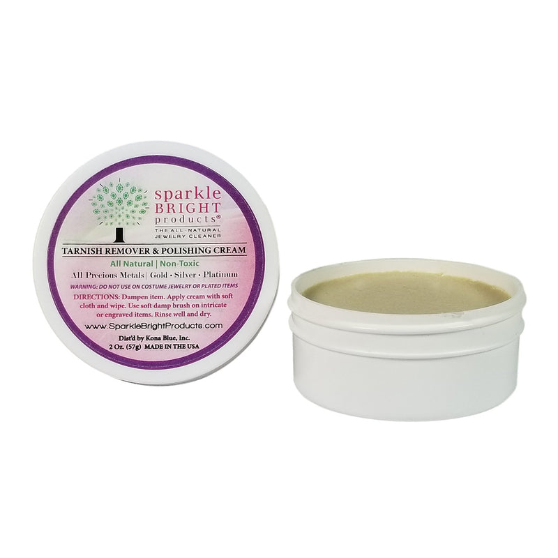 Sparkle Bright Products All-Natural Jewelry Cleaner | 2oz. (57g), Tarnish Remover & Polishing Cream - Sparkle Bright Products