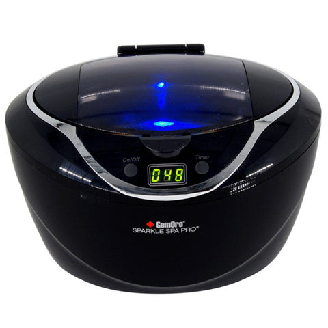 GemOro - SparkleSpa Pro Ultrasonic Cleaner (black or gray)