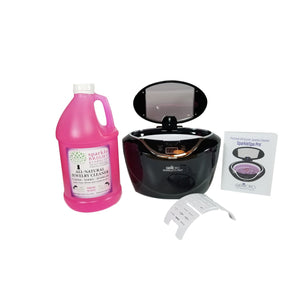 GemOro SparkleSpa Pro Ultrasonic Half-Gallon Jewelry Cleaner Kit (black or gray) - Sparkle Bright Products